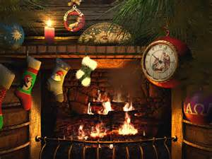 holidays 3d screensavers fireside animated