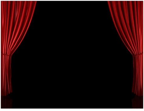 theatre stage curtains closed red curtain background