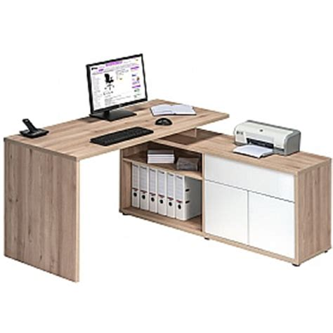 White Home Office Furniture Uk Naples Corner Computer Desk Beech White Gloss Static Computer Desks
