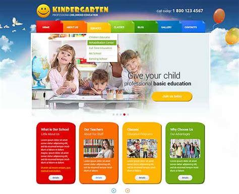 theme wordpress kindergarten wordpress template kids gridgum