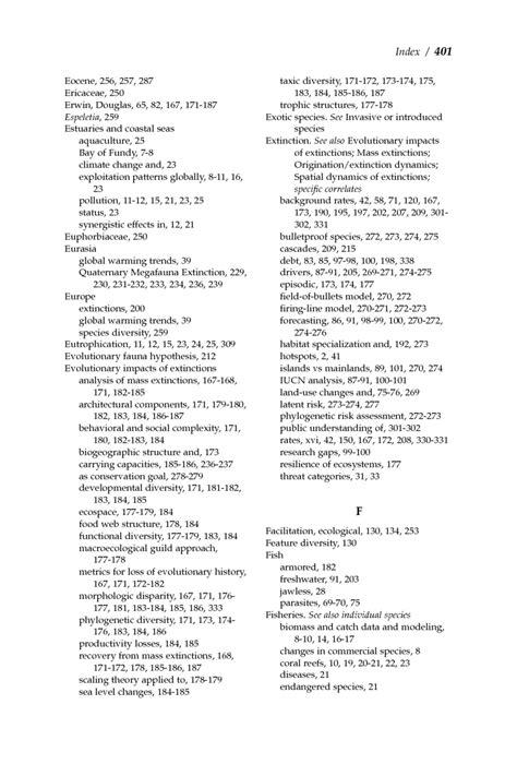 Index In The Light Of Evolution Volume Ii Biodiversity