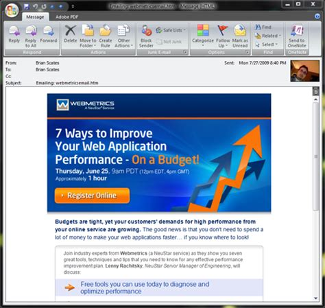 tips and best practices for html emails in outlook 2007