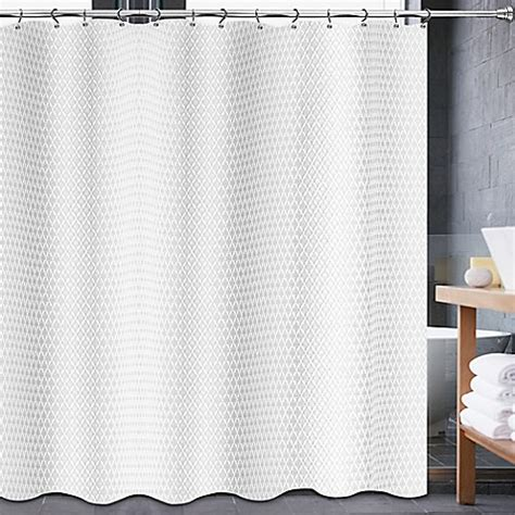 84 white shower curtain buy avalon 70 inch x 84 inch shower curtain in white from