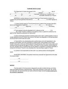 Space Rental Agreement Template Parking Space Lease Hashdoc