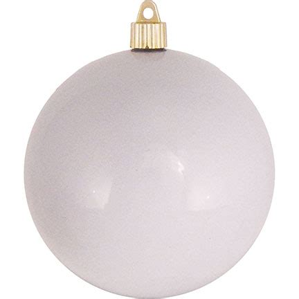 milk white christmas ornaments 6 quot 150mm shatterproof ornament milk white 12 temple display ltd
