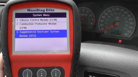 airbag deployment 2002 volvo s60 navigation system volvo airbag srs sips dash warning light diagnose reset autel md702 youtube