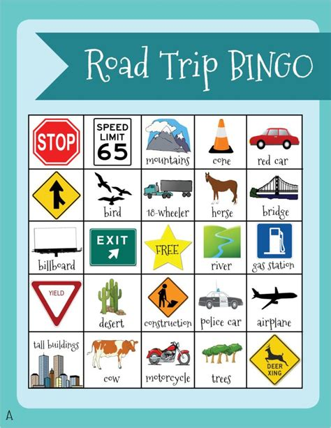 Travel Bingo Card Template by Road Trip Keeping The Happy Postcards Passports