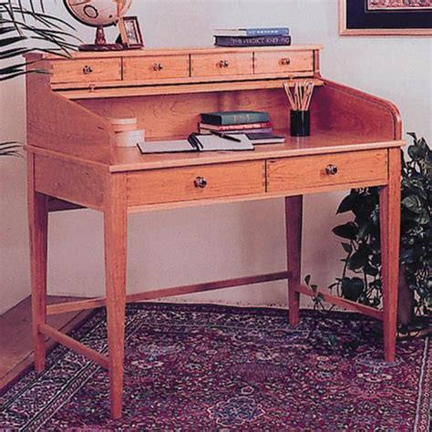 rolltop writing desk wood magazine