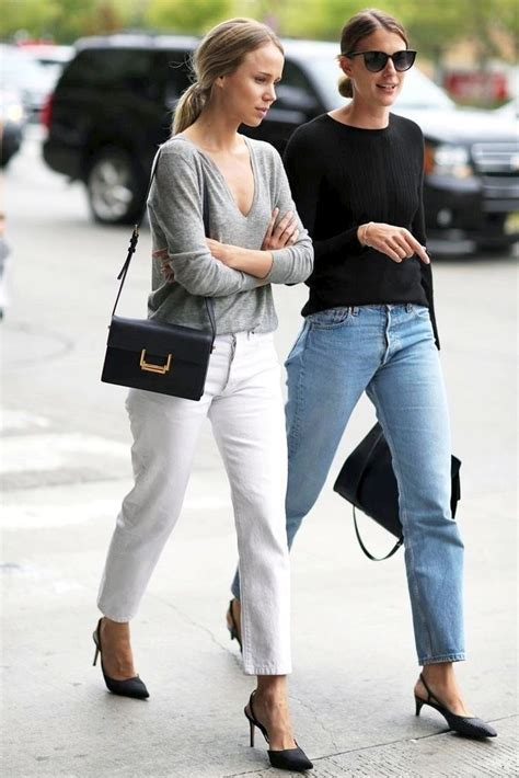 airstream gling style elin kling and a friend go casual chic in