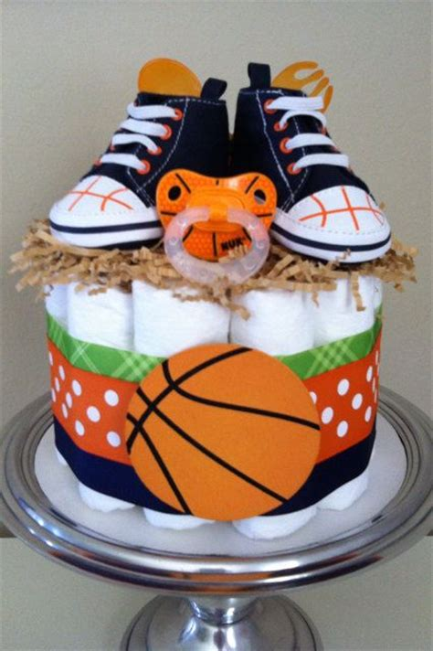 Nba Baby Shower Theme by Orange Blue And Green Basketball Mini Cake Baby