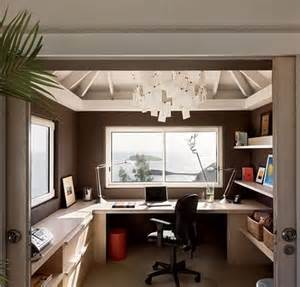 small home office design tuesday s tips use floating shelves cabinets to create a desk in small spaces design
