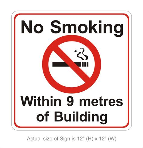 no smoking sign requirements california signmakers london on 1 800 932 0754