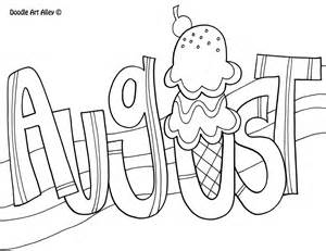 august coloring pages to and print for free - August Coloring Pages