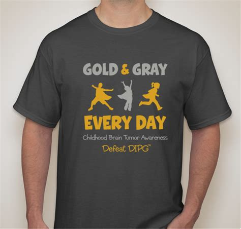 Headset Kaos Distro Kaos Custom gold gray every day 2 custom ink fundraising