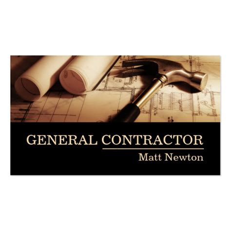 general builders and home decorators general contractor builder manager construction business card zazzle