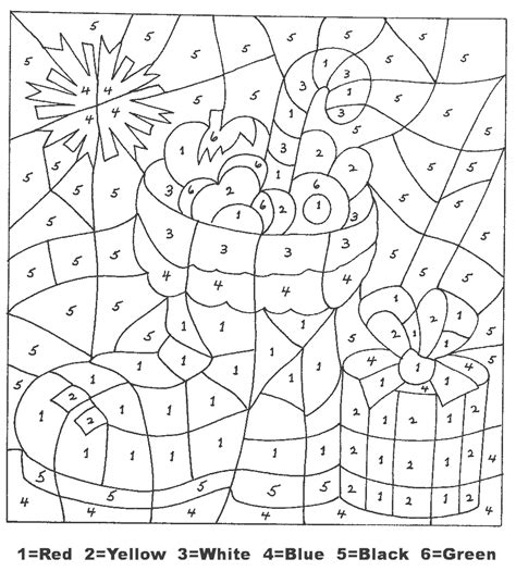 free holiday color by number coloring pages christmas color by numbers best coloring pages for kids