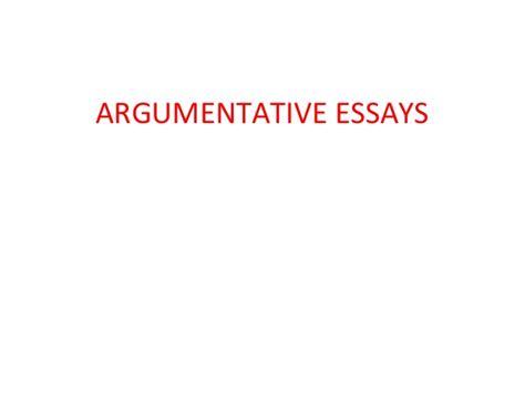 Writing An Argumentative Essay Powerpoint lecture on writing argumentative essays ppt