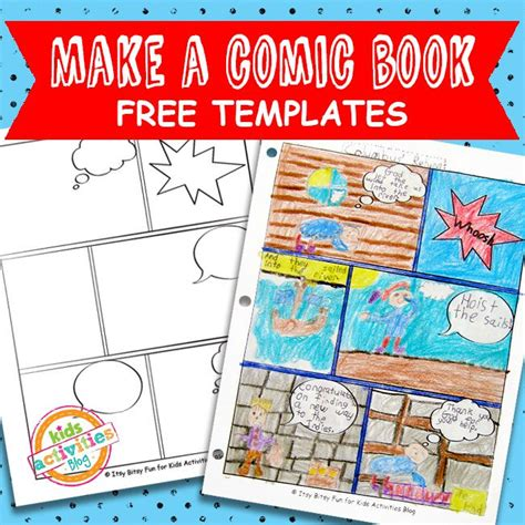 free templates for photo books comic book templates free kids printable kids activities