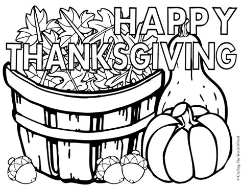 coloring page happy thanksgiving crafting the word of god
