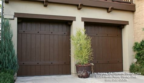 rustic garage doors crafted in eco friendly materials