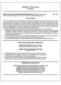 Financial System Manager Sle Resume by Retail Management Resume Exles