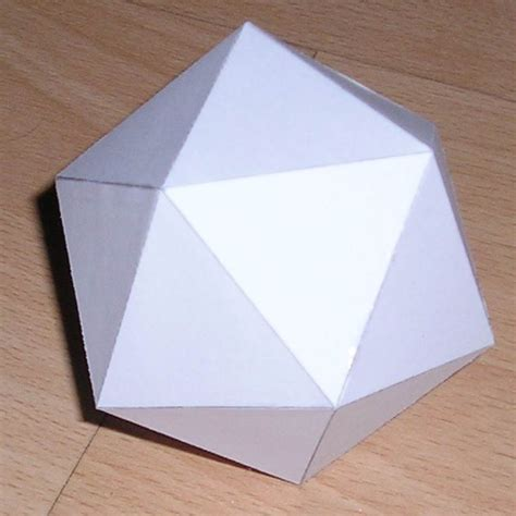 How To Make Models With Paper - paper icosahedron