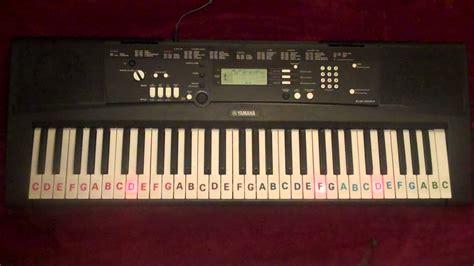 yamaha keyboard lighted keys abcdefg notes on keys yamaha ez 220 light up keyboard