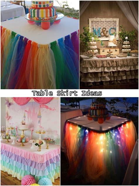 5 Fabulous Diy Fashion Ideas by 5 Fabulous Table Skirt Ideas For And Weddings