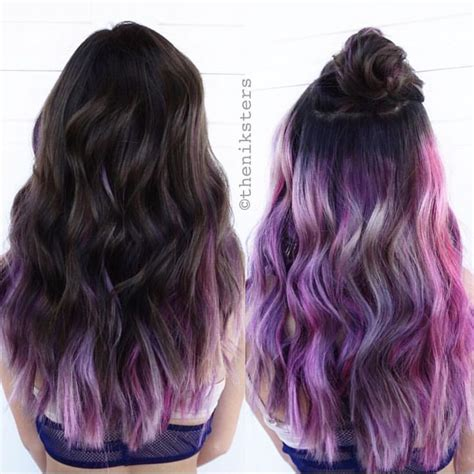 hair color on bottom 25 best ideas about purple underneath hair on pinterest