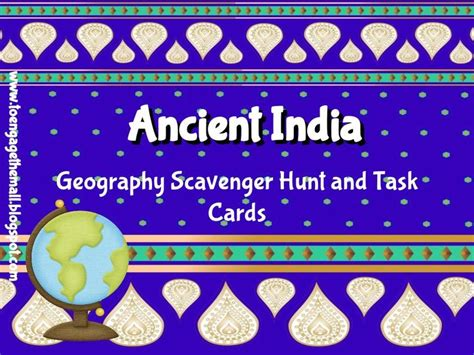 5 themes of geography india ancient india geography scavenger hunt and task cards don