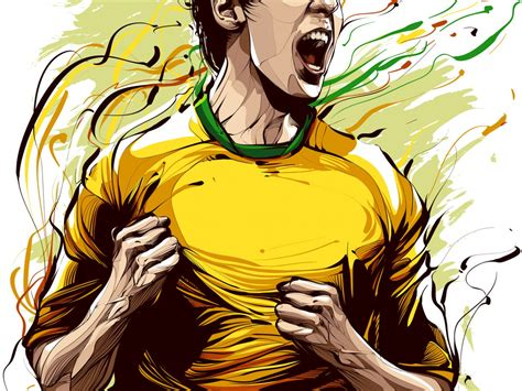 picture illustration cristiano siqueira football player illustration hd