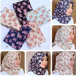 Segi Empat Serat Nanas 04 15 jilbab segi empat terbaru modern dan kekinian