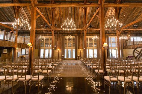 les fleurs : barn at gibbet hill : indoor ceremony : barn