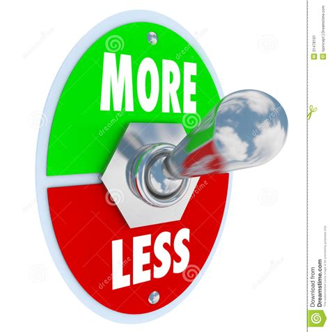 more clipart more vs less toggle switch on increase higher amount