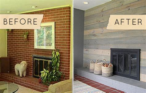 Before And After Brick Fireplace by Painted Brick Fireplaces Before And After