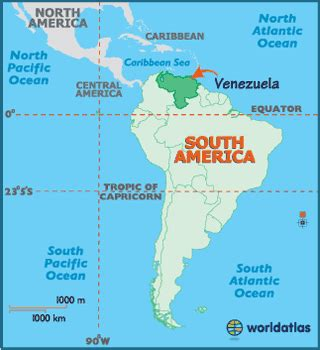 caracas on world map map geography of map of