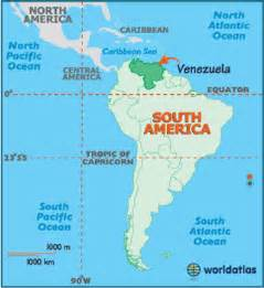 Venezuela On World Map by Printable Map Of Venezuela
