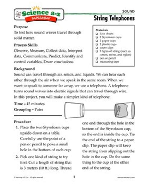String Lesson Plan - science activities experiments for science a z