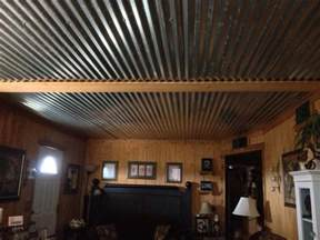 Design Ideas For Galvanized Ceiling Fan Barn Tin Ceiling In Living Room For The Home The O Jays Be Cool And Stairs