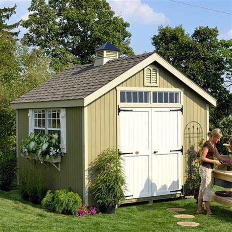 cottage style garden sheds cottage 12 x 10 ft williamsburg colonial panelized