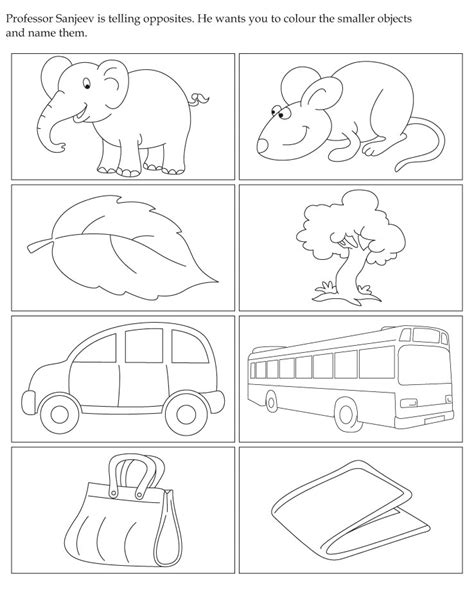 opposites coloring pages for toddlers professor sanjeev is telling opposites he wants you to