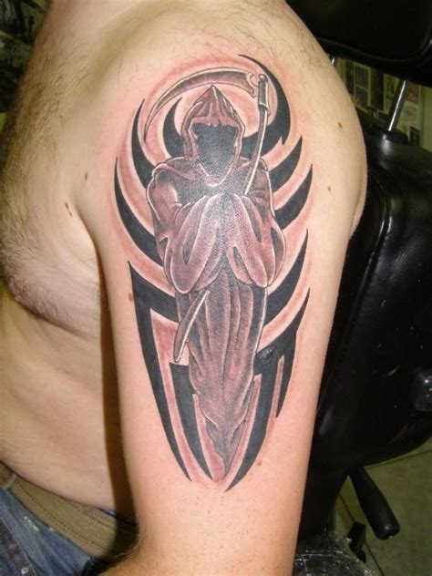 reaper tattoo by dethdealer31103 on deviantart reaper by inkcastle on deviantart