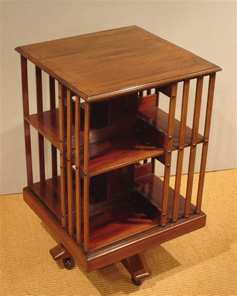Antique Revolving Bookcase Bookcases And Display Cabinets Rotating Bookshelves