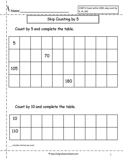 printable worksheets counting by 2 5 10 free skip counting worksheets