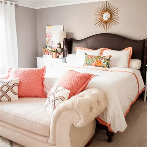 copper coral and blush bedroom cuckoo4design