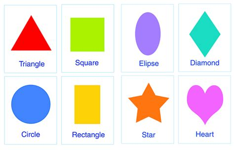 printable learning shapes make flash cards of shapes