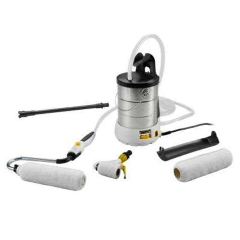 home depot paint roller kit wagner 9 in and 3 in smart powered roller system kit