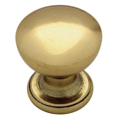 home depot kitchen knobs martha stewart living 1 in bedford brass goblet cabinet knob p20634c 474 cp the home depot