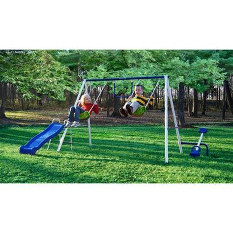 swing sets ebay flexible flyer fun time metal swing set ebay
