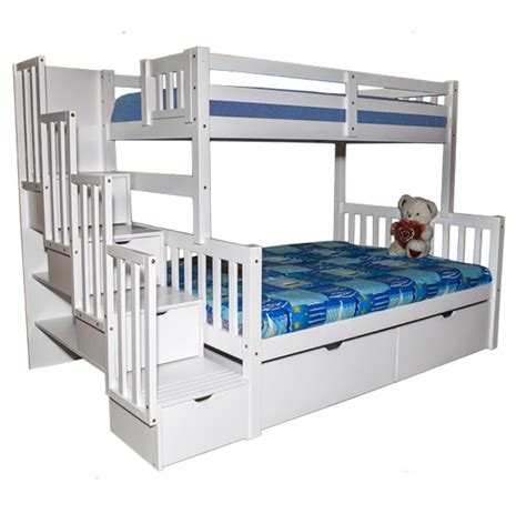 stairway bunk bed sca flamingo stairway bunk bed white